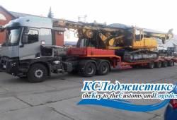 Доставка негабаритной буровой установки BAUER BG9 в Сочи.