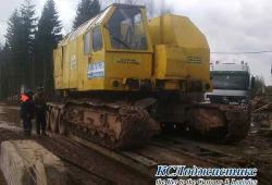 Фото 1 - транспортировка строительного крана РДК-250