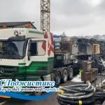 Перевозка из Швейцарии буровой установки Liebherr LB28