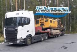 Доставка 77-ти тонной буровой установки BAUER из Екатеринбурга.